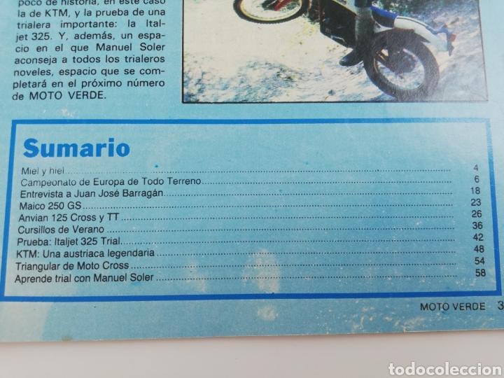 Coches y Motocicletas: REVISTA MOTO VERDE NUMERO 37 AGOSTO 1981 POSTER DOMINGO ZABALA VER SUMARIO - Foto 2 - 129168216