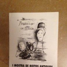 Coches y Motocicletas: I MUESTRA DE MOTOS ANTIGUAS DE BALEARES - I MOSTRA DE MOTOS ANTIGUES DE BALEARS (1992). Lote 130134418
