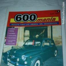 Coches y Motocicletas: NÚMERO UNO REVISTA 600 MANÍA, AMIGOS DE LOS SEISCIENTOS 28 PÁGINAS, AÑO 2001. Lote 130483642