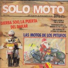 Coches y Motocicletas: REVISTA SOLO MOTO 30 Nº 23 AÑO 1985. RACING: DERBI 80 GP. . Lote 130851184