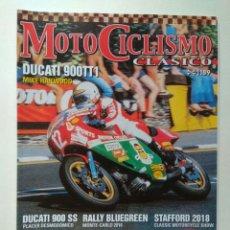 Coches y Motocicletas: REVISTA MOTOCICLISMO CLÁSICO N189 BMW R69S DUCATI 900T 900SS KAWASAKI Z900 MOBYLETTE D55 HONDA XL250. Lote 131533133
