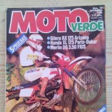 Coches y Motocicletas: REVISTA MOTO VERDE 1986 SEPTIEMBRE. Lote 131701358
