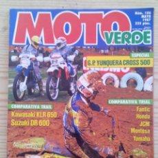 Coches y Motocicletas: REVISTA MOTO VERDE 1987 MAYO. Lote 131701590