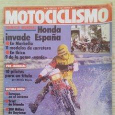 Coches y Motocicletas: REVISTA MOTOCICLISMO 1983 19 MARZO. Lote 131708938