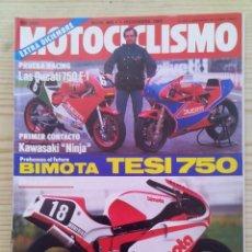 Coches y Motocicletas: REVISTA MOTOCICLISMO 1984 1 DICIEMBRE. Lote 131709774