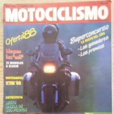 Coches y Motocicletas: REVISTA MOTOCICLISMO 1988 11 FEBRERO. Lote 131739634