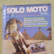 Coches y Motocicletas: REVISTA SOLO MOTO 15 ENERO 15 FEBRERO 1987. Lote 131740882