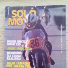 Coches y Motocicletas: REVISTA SOLO MOTO 18 NOVIEMBRE 1977. Lote 131741566