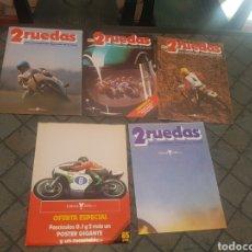 Coches y Motocicletas: LOTE DE 3 REVISTAS 2 RUEDAS Y UN PÓSTER. Lote 132884081