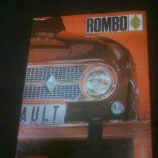 Coches y Motocicletas: REVISTA ROMBO 1968.Nº2 ANALISIS RENAULT 10. Lote 133366610
