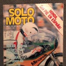 Coches y Motocicletas: SOLO MOTO. REVISTA NO.240 (MAYO DE 1980). Lote 134018094