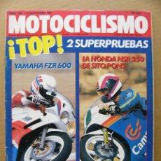 Coches y Motocicletas: MOTOCICLISMO 1081 YAMAHA FZR 600 HONDA NSR 250 SITO PONS CAGIVA CRUISER 125. Lote 134062806