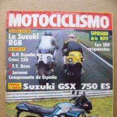 Coches y Motocicletas: MOTOCICLISMO 797 SUZUKI GSX 750 SE SUZUKI RGB 500 RACING DUCATI TECFAR TF D2. Lote 134068958