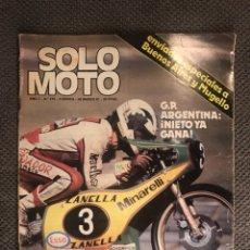 Coches y Motocicletas: SOLO MOTO. REVISTA NO.279 (MARZO DE 1981). Lote 134076958