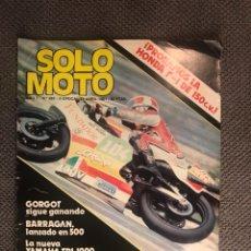 Coches y Motocicletas: SOLO MOTO. REVISTA NO.282 (ABRIL DE 1981). Lote 134077413