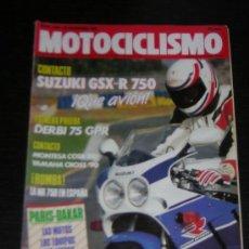 Coches y Motocicletas: MOTOCICLISMO 1140 - DIC 1989 - SUZUKI GSX R 750 / DERBI GPR 75 / MONTESA COTA 310 / PARIS DAKAR/ 35. Lote 138929868