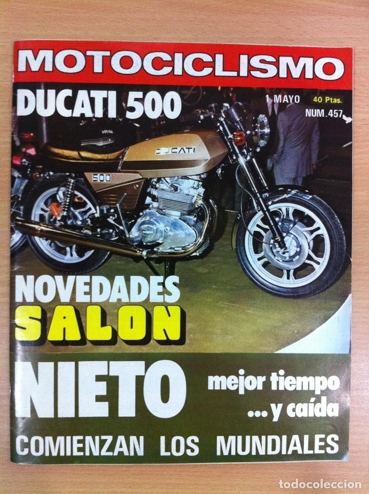 REVISTA MOTOCICLISMO, Nº 457, MAYO 1976 - DUCATI 500, ÁNGEL NIETO, FIN POLÉMICA REVISTA CON DERBI... (Coches y Motocicletas - Revistas de Motos y Motocicletas)