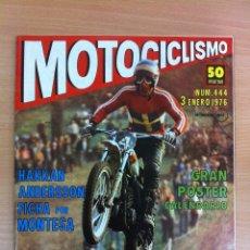 Coches y Motocicletas: REVISTA MOTOCICLISMO, Nº 444, ENERO 1976 - MOTO CATÁLOGO DE TODAS LAS MOTOS DEL AÑO. Lote 54908060