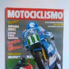 Coches y Motocicletas: REVISTA MOTOCICLISMO 1055 GILERA MX1 GAS GAS 88 TRIAL HONDA MBX ASPAR PONS GARRIGA . Lote 135021562
