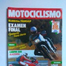 Coches y Motocicletas: REVISTA MOTOCICLISMO 1016 CAGIVA ALAZURRA 350 DUCATI SUPERBIKE HONDA MONTESA COTA 50 GARRIGA. Lote 135022010