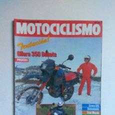 Coches y Motocicletas: REVISTA MOTOCICLISMO 993 GILERA 350 DAKOTA AMAZONAS 1600 DERBI 250 RAID GUINA. Lote 135022518