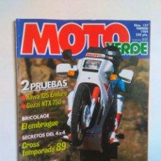 Coches y Motocicletas: REVISTA MOTO VERDE Nº 127 GUZZI NTX 750 KAWASAKI KX 125 MONTESA COTA 309 YAMAHA TT TY YZ 250 BMW 4X4. Lote 135230218
