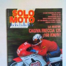 Coches y Motocicletas: REVISTA SOLO MOTO Nº 729 CAGIVA FRECCIA 125 HUSQVARNA 510 GILERA RC 125 VESPA RIEJU JET SKI . Lote 135369690