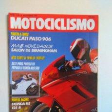 Coches y Motocicletas: REVISTA MOTOCICLISMO Nº 1133 DUCATI PASO HONDA RS HUSQVARNA 410 KAWASAKI KX SUZUKI DR SITO PONS NSR . Lote 135410550