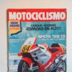 Coches y Motocicletas: REVISTA MOTOCICLISMO Nº 1176 BIMOTA SIDECAR BMW EML HONDA CROSS HARLET MOTOGAC VESPINO RIEJU DRAC. Lote 135416102