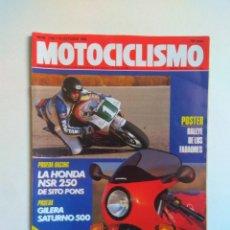 Coches y Motocicletas: REVISTA MOTOCICLISMO Nº 1130 HONDA NSR GILERA SATURNO MORINI POWA CITY BIKE CAMEL TROPHY. Lote 135425138