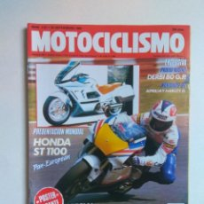 Coches y Motocicletas: REVISTA MOTOCICLISMO Nº 1127 DERBI 80 HONDA ST 1100 APRILIA 90 HARLEY DAVIDSON HONDA NSR. Lote 135428494