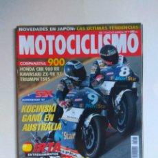 Coches y Motocicletas: REVISTA MOTOCICLISMO Nº 1518 TRIUMPH T595 DAYTONA HONDA CBR KAWASAKI ZX SUZUKI KATANA JEREZ CHECA. Lote 135586650