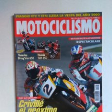 Coches y Motocicletas: REVISTA MOTOCICLISMO Nº 1492 HONDA SLR YAMAHA XVS VESPA ET2 ET4 DERBI HUNTER YAMAHA TZ 125. Lote 135587470