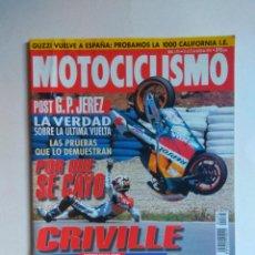 Coches y Motocicletas: REVISTA MOTOCICLISMO Nº 1474 GUZZI CALIFORNIA HONDA NX KAWASAKI KLR SUZUKI DR YAMAHA TTE MX 125. Lote 135589610