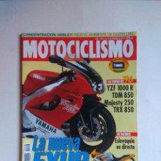 Coches y Motocicletas: REVISTA MOTOCICLISMO Nº 1438 YAMAHA YZF TDM MAJESTY TRX VIRAGO SUZUKI INTRUDER HONDA SHADOW VULCAN . Lote 135598150