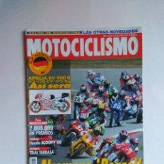 Coches y Motocicletas: REVISTA MOTOCICLISMO Nº 1422 APRILIA RV HONDA SCOOPY MUZKOBRA CBR 600. Lote 135600626