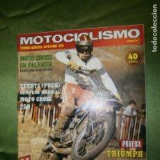 Coches y Motocicletas: (F.1) REVISTA MOTOCICLISMO SEGUNDA QUINCENA DE SEPTIEMBRE AÑO 1975(TOMA DE CONTACTO CON LA NUEVA -. Lote 135648191
