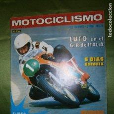 Coches y Motocicletas: (F.1) REVISTA MOTOCICLISMO Nº460 AÑO 1976( POSTER DE JAIME SUBIRA (MONTESA 348). Lote 135652907