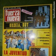 Coches y Motocicletas: (F.1) REVISTA FUERZA NUEVA Nº182 AÑO 1970( BLAS PIÑAR HABLA DEL MAESTRO, EN LA CUNA DE SAN JUAN DE-. Lote 135654243