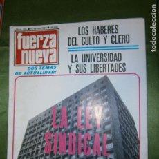Coches y Motocicletas: (F.1) REVISTA FUERZA NUEVA Nº136 AÑO 1969 (LOS HABERES DEL CULTO Y CLERO, RAZONES Y... DEMAGOGIAS). Lote 135655303