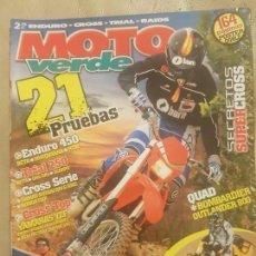 Coches y Motocicletas: REVISTA MOTO VERDE N° 328 AÑO 2005 EDICION 11/ CAMPEONES MUNDIALES, CERVANTES, GUERRERO, RAGA.. Lote 136163042