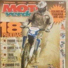 Coches y Motocicletas: REVISTA MOTO VERDE N° 318 AÑO 2005 EDICION 1/PRU:HONDA,HUSQVARNA TM,YAMAHA,250 4T.... Lote 136232270