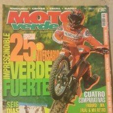 Coches y Motocicletas: REVISTA MOTO VERDE N° 305 AÑO 2003 ED.12. ESPECIAL 25 ANIVERSARIO, COMPARATIVAS ENDURO/MX/TRIAL & MX. Lote 136317926