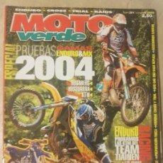Coches y Motocicletas: REVISTA MOTO VERDE N° 301 AÑO 2003 ED.8. PRU: ENDURO & MX HUABERG, HUSQVARNA, KTM. 2004.. Lote 136318418