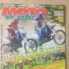 Coches y Motocicletas: REVISTA MOTO VERDE N° 302 AÑO 2003 ED.9. PRU:SUZUKI RM, 85/125/250,YAMAHA YZ 125&250.... Lote 136319514