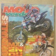 Coches y Motocicletas: REVISTA MOTO VERDE N° 299 AÑO 2003 ED.6.ENDURO, VOR 450 MIKA AHOLA RÉPLICA, CROSS, HONDA CR 125 S/T.. Lote 136319702
