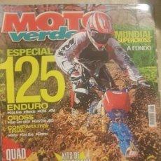 Coches y Motocicletas: REVISTA MOTO VERDE N° 296 AÑO 2003 ED.3.ESPECIAL 125,ENDURO, GASGAS,HONDA,KTM,TM.. Lote 136516202