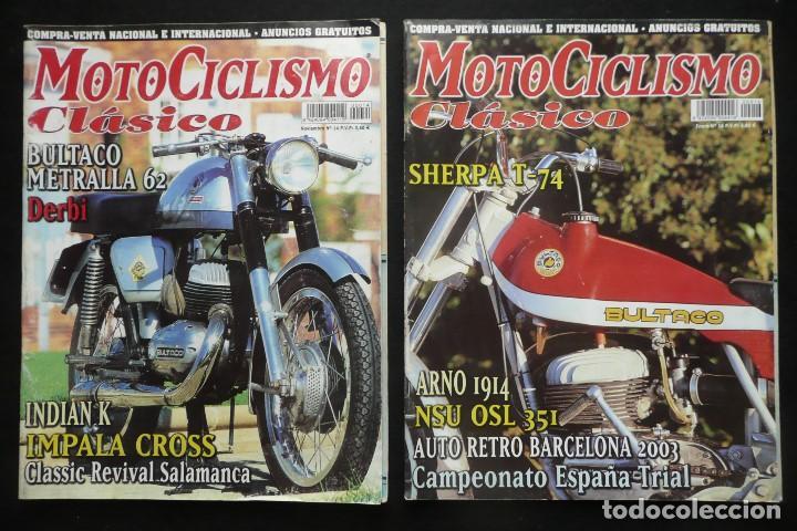 REVISTAS MOTOS- MOTOCICLISMO CLASICO Nº14 / Nº16 (Coches y Motocicletas - Revistas de Motos y Motocicletas)