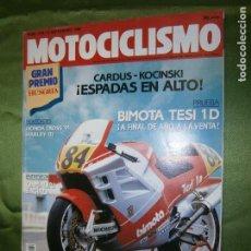 Coches y Motocicletas: (F.1) REVISTA MOTOCICLISMO Nº 1176 AÑO 1990 ( ESPAÑA NECESITA UN PILOTO 250C.C. COMO CARDÚS). Lote 136558426