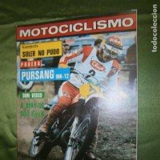 Coches y Motocicletas: (F.1) REVISTA MOTOCICLISMO Nº 585 AÑO 1978 ( POSTER DE MARCELINO GARCIA-BULTACO PURSANG 250 MK-12). Lote 136560954